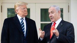 Trump y Netanyahu ayer en la Casa Blanca.