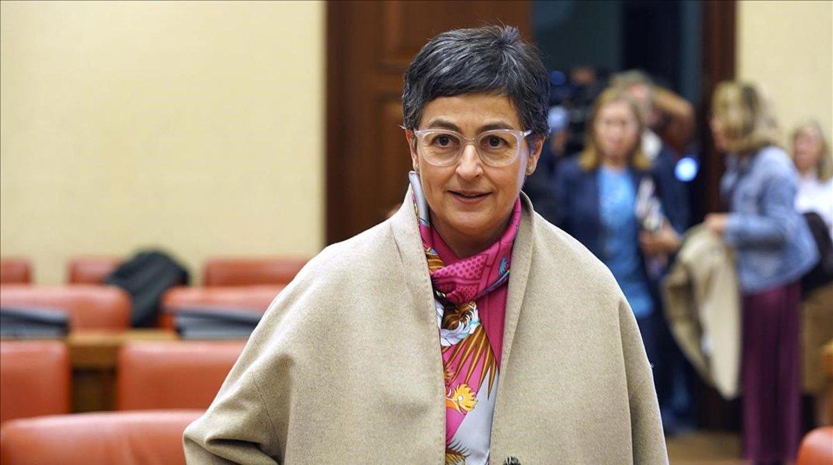 La ministra Arancha González Laya, este jueves en el Congreso de los Diputados.