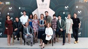 Los actores de Velvet colección , en el FesTVal.