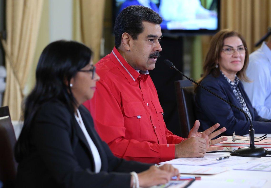 El presidente de Venezuela, Nicolás Maduro en una reunión oficial. AFP