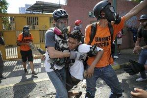 Los heridos por las movilizaciones y protestas en Venezuela.
