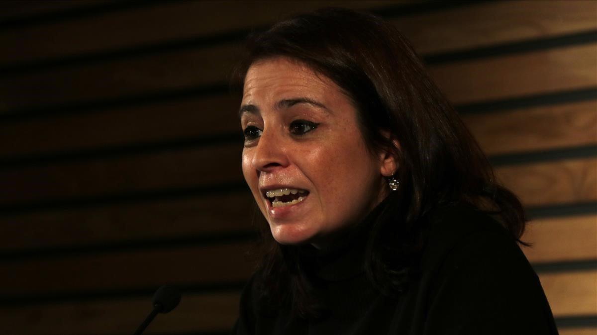 La vicesecretaria general del PSOE, Adriana Lastra, en Tortosa el pasado sábado.