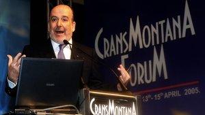 El fundador y presidente del Foro Crans Montana, Jean-Paul Carteron.