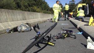 Accidente en el falleció un ciclista en A Guarda (Pontevedra).