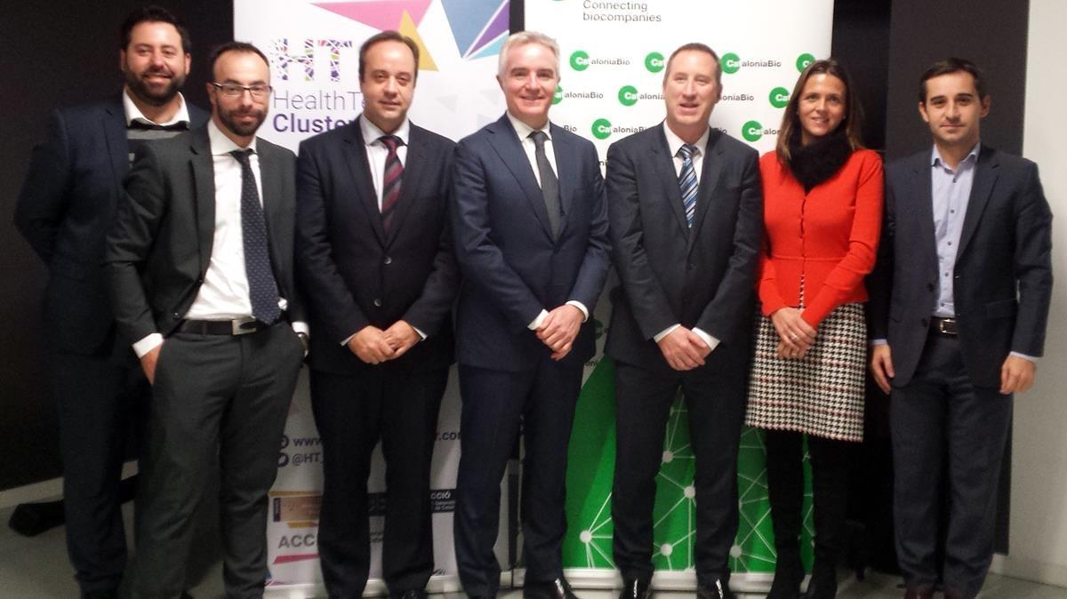 Representantes de CataloniaBio y de HelathTech Cluster.