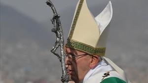 El papa Francisco preside la celebración de una misa durante su visita a América Latina, el pasado 21 de enero.