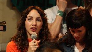 La actriz argentina Thelma Fardín, en la rueda de prensa del pasado martes en Buenos Aires.