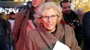 Manuela Carmena, durante una visita realizada el pasado lunes, 17 de diciembre.