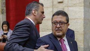 El presidente de Vox en Andalucía y juez en excedencia Francisco Serrano.
