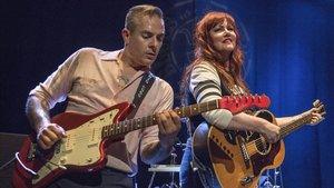 Mario Cobo y Kim Lenz, en su actuación en Badalona, el viernes pasado.