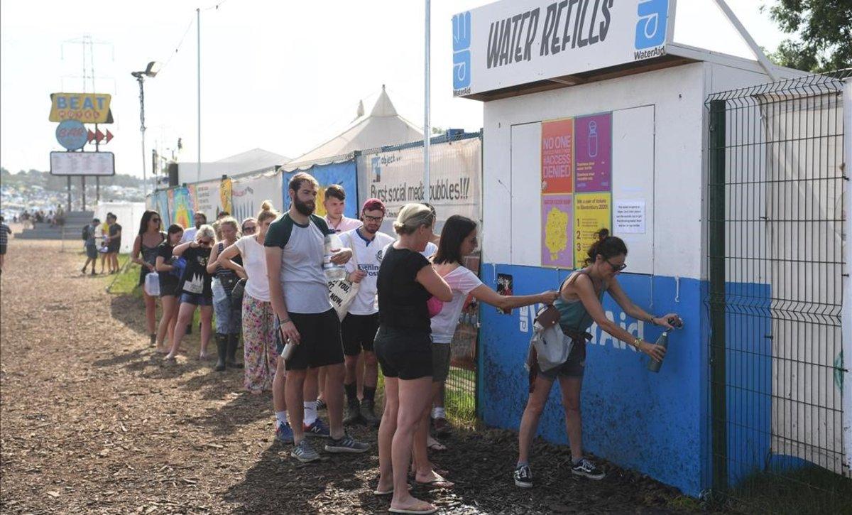 Els indies del festival de Glastonbury passen del plàstic
