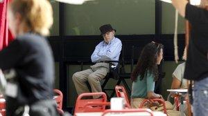 Woody Allen, durante el rodaje de su última película, este jueves en San Sebastián.