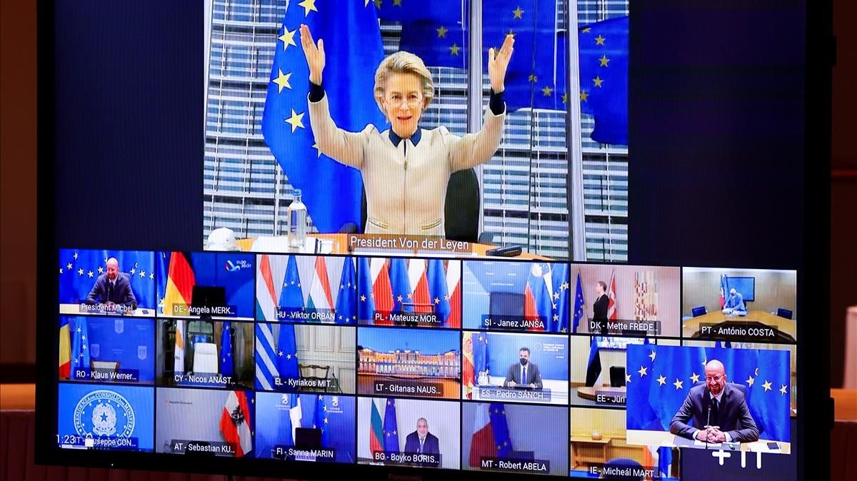 Els líders europeus deixen en mans de Merkel desbloquejar el veto d'Hongria i Polònia