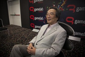 Investigador 8 Iwatani, ayer, en el Gamelab de Barcelona.