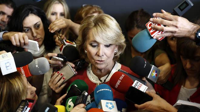 Esperanza Aguirre es posa a plorar: Això dIgnacio González seria molt lamentable per a mi.