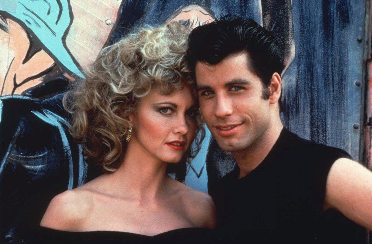 Olivia Newton-John y John Travolta protagonizan 'Grease'.