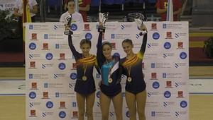 Aina Martín, tercera en el Campeonato infantil de España de patinaje.