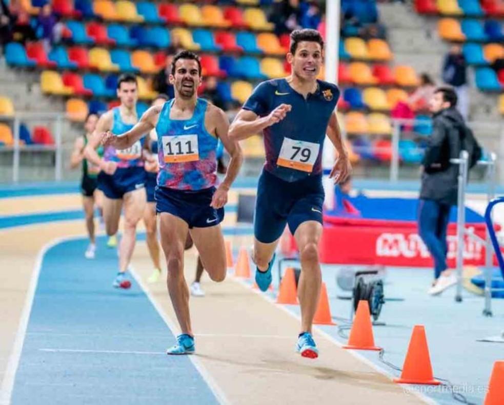 Marc Alcalá a la cursa de 1.500 metres.