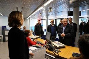 El alcalde de Terrassa, Alfredo Vega, visita las instalaciones de la nueva empresa pública del agua Taigua.