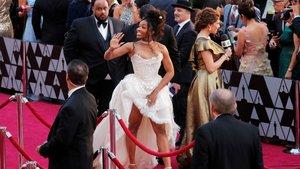 Momento de la alfombra roja en la pasada edición de los Oscar.
