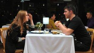 Anastasia y Mario en 'First Dates'.