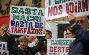 Protestas socialesen contra del presidente de Argentina, Mauricio Macri.