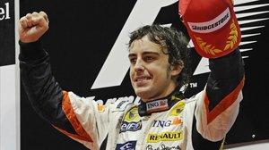 El asturiano Fernando Alonso en sus años de gloria con Renault.