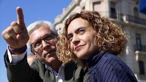 Ballesteros, junto a Meritxell Batet, que encabezó la lista del PSC a las últimas generales, el pasado abril, en Tarragona.
