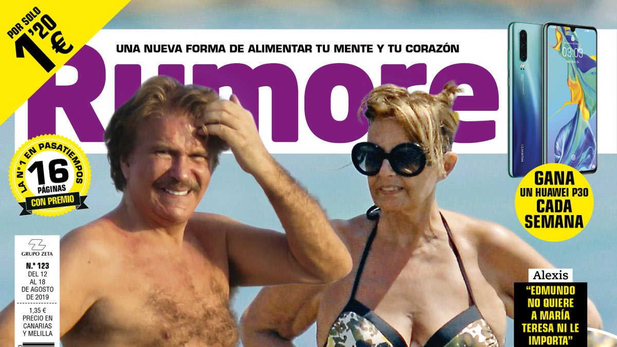 Bigote Arrocet y María Teresa Campos, en la portada de 'Rumore'.