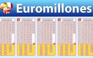 Un boleto del Euromillón.