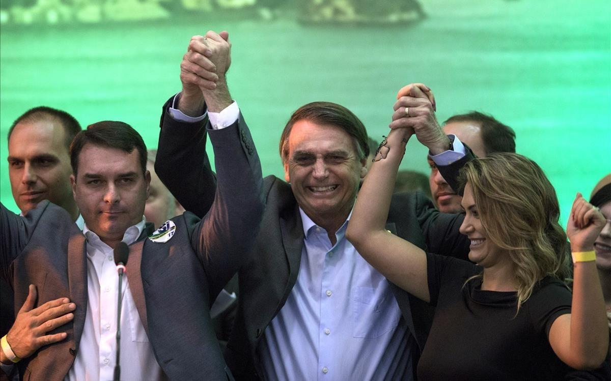 Bolsonaro, durante la convención de su partido.