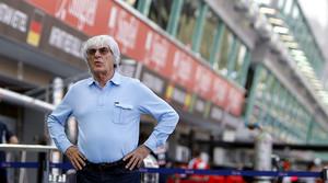 El británico Bernie Ecclestone, poderosísimo gestor y dueño del Mundial de F-1.