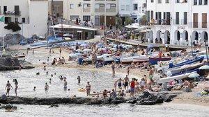 Palafrugell fixarà un màxim d'usuaris a Calella, Llafranc i Tamariu
