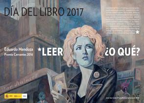 Cartel para el Día del libro 2017 de Javier Sáez Castán (Premio Nacional de Ilustración 2016), inspirado en la obra de Sin noticias de Gurb, deEduardo Mendoza, flamante Premio Cervantes.