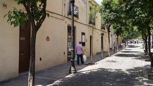 Casas de la calle de Pons i Gallarza, en el barrio de Sant Andreu.