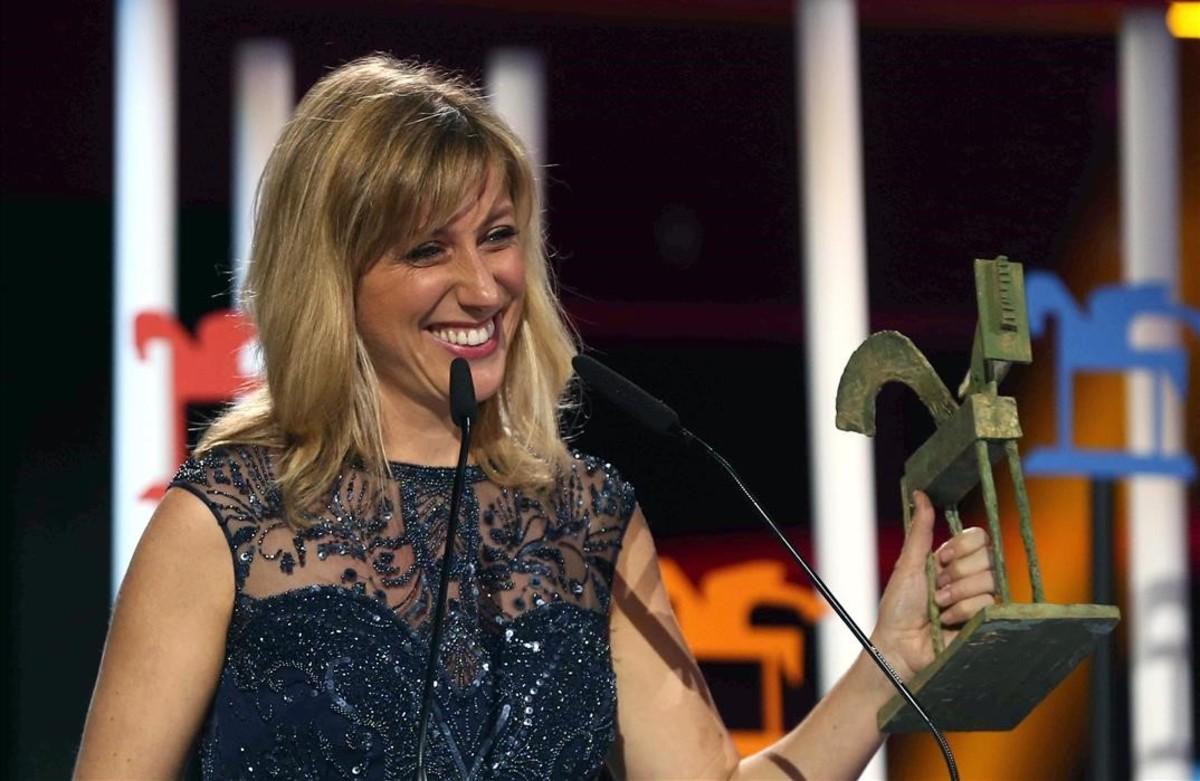 Cecilia Freire, en el acto de recogida del Premio Ondas.