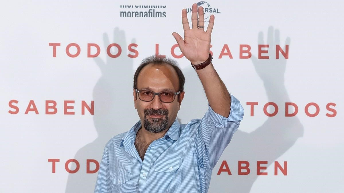 El cineasta iraní Asghar Farhadi, en Madrid, durante la presentación de 'Todos lo saben'.