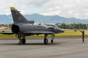 Un avión de la Fuerza Aérea de Colombia.