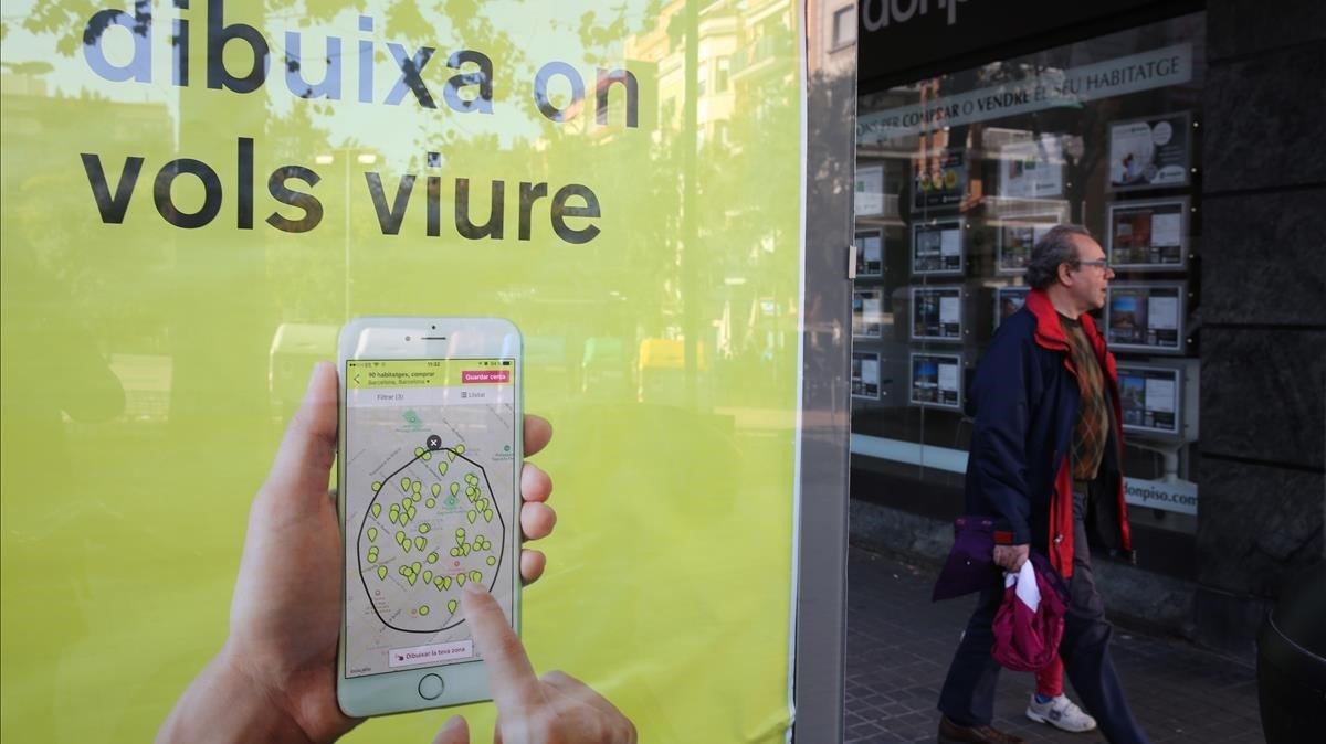 Un anuncio de Idealista en Barcelona