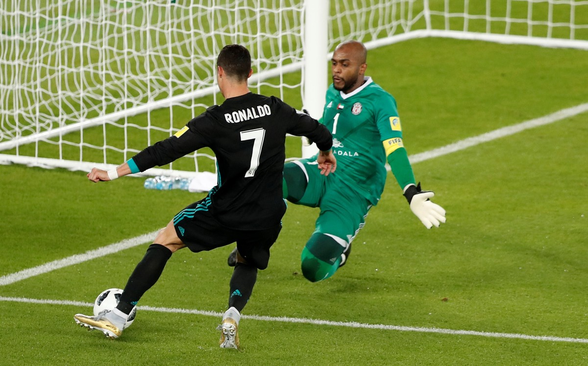 Cristiano Ronaldo, en el partido frente al Al Jazira del Mundial de Clubs.