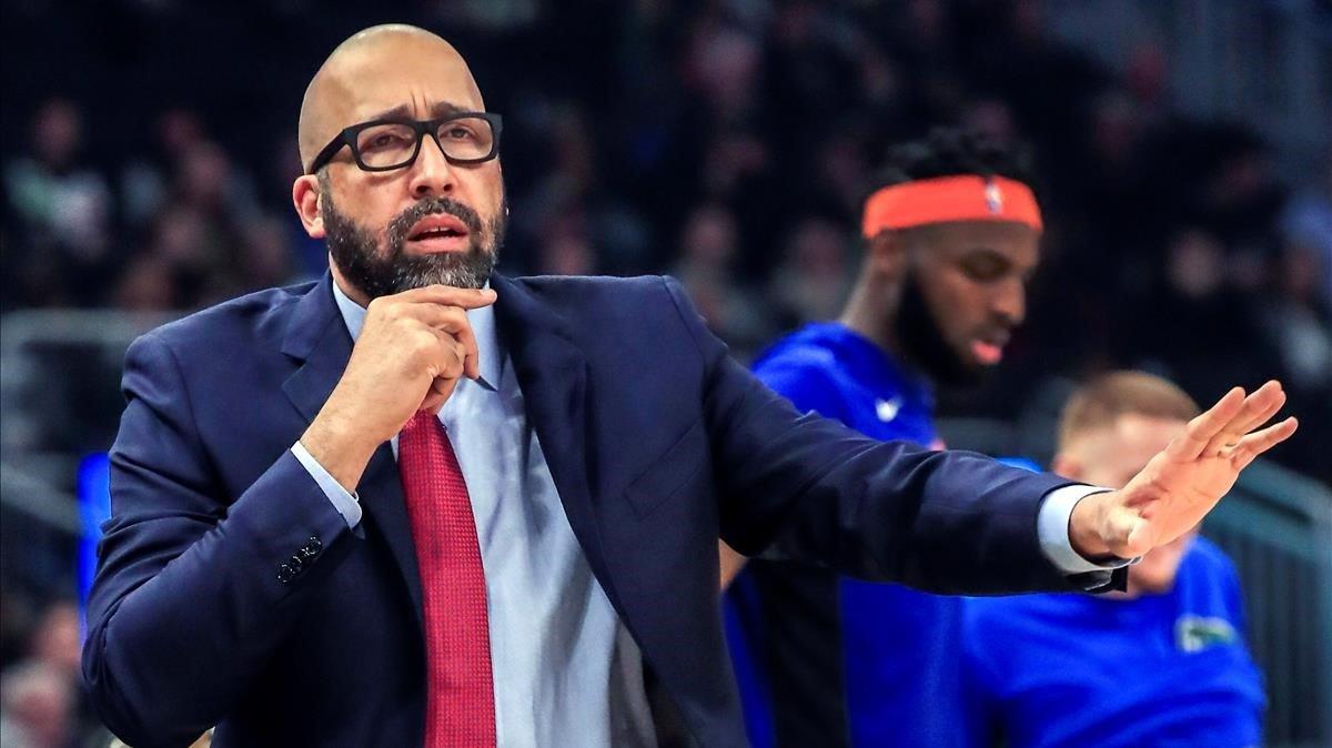 David Fizdale, durante un partido de los Knicks en Milwaukee.