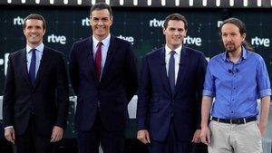 Sánchez, Casado, Iglesias, Rivera y Abascal se enfrentan al '#Debate4N' de la Academia en TVE, Antena 3 y laSexta