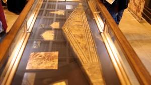 Detalle de la exposición de piezas de la tumba de Tutankamón, en El Cairo.