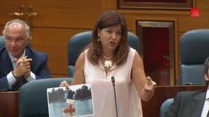 Fotograma del discurso de Begoña García.