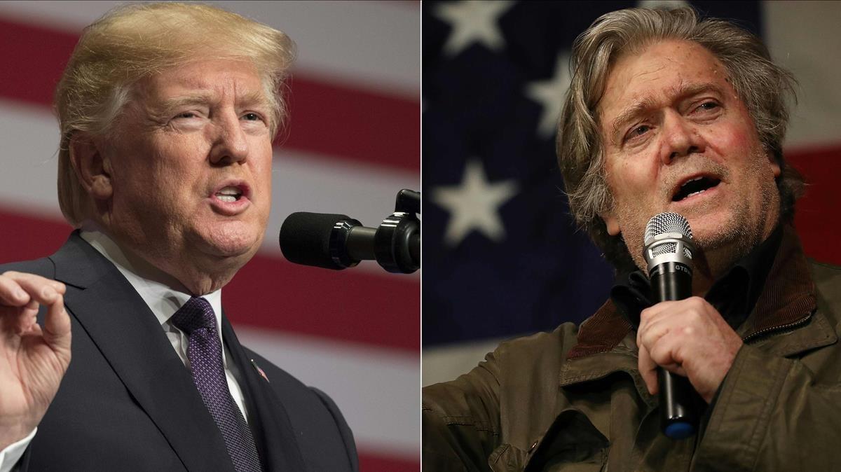 Donald Trump y Steve Bannon.