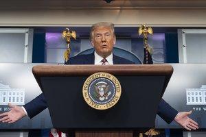 Donald Trump, en una rueda de prensa en la Casa Blanca.
