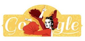 Ilustración del doodle que homenajea el 93 aniversario del nacimiento de Lola Flores.