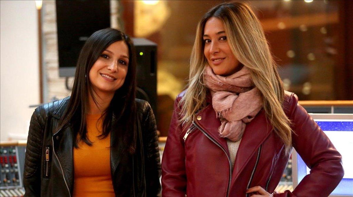 Virginia Mos, la nueva, y Marta Botía, fundadora del dúo, este viernes en Madrid.