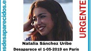 La estudiante española Natalia Sánchez Uribe.