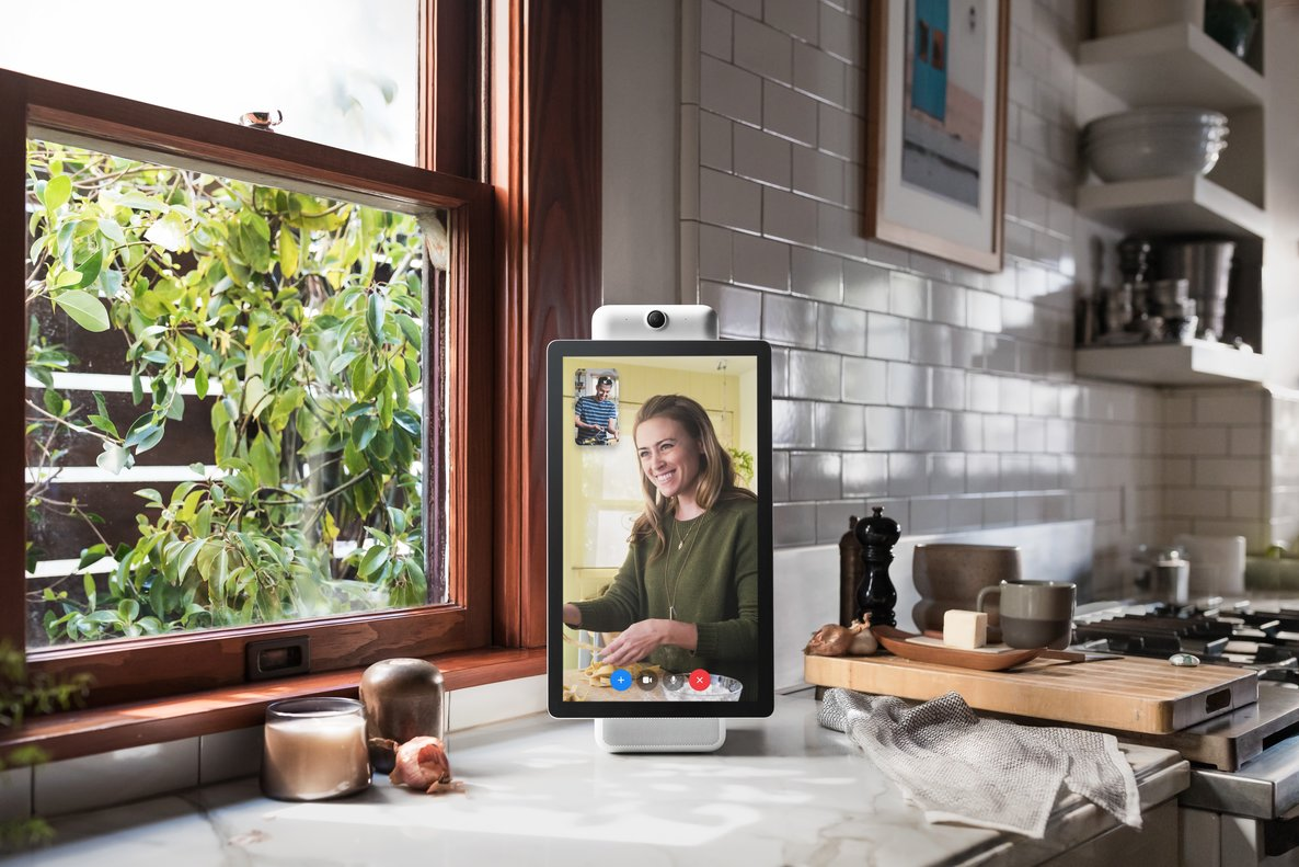 This image provided by Facebook shows the company s product called Portal PlusFacebook is marketing the device as a way for its more than 2 billion users to chat with one another without having to fuss with positioning and other controlsFacebook via AP